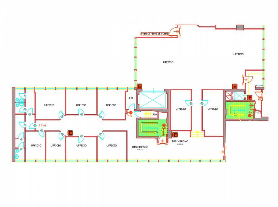 Ufficio mq. 425 Affitto- Complesso ATLANTIC BUSINESS ...