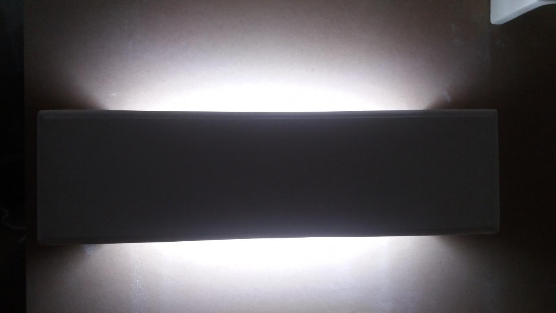 Lampada artigianale in pietra leccese led cob