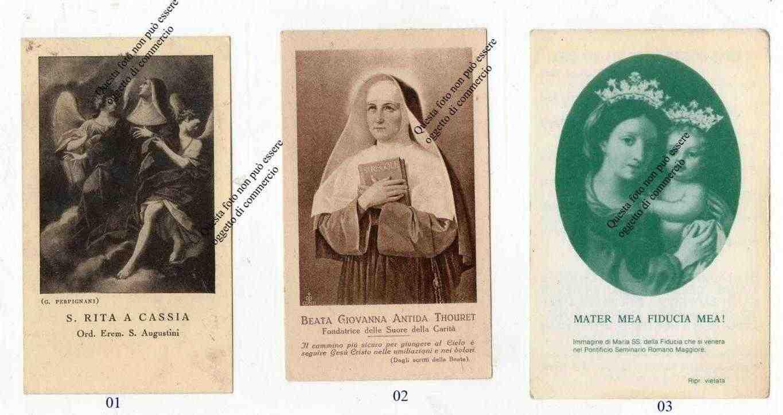 Lotto di 14 Santini del secolo scorso -Vari Santi e Beati - Varie date
