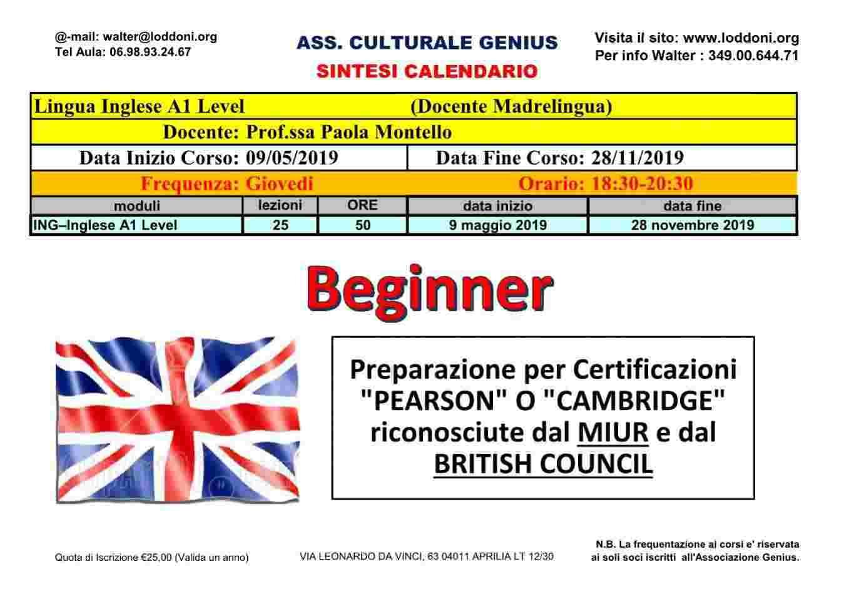 Corso di Inglese Livello A1 base