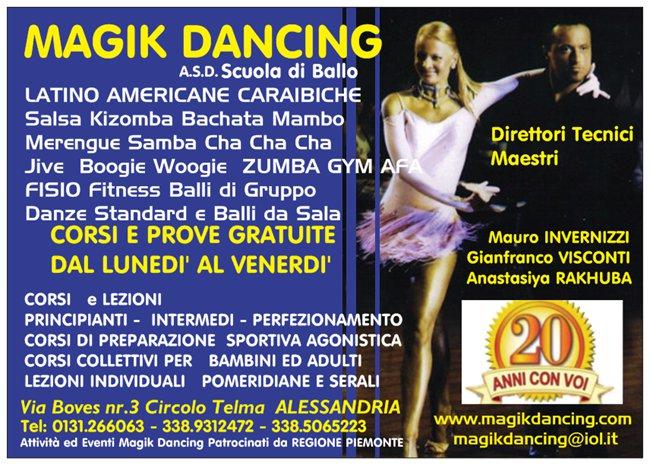 CORSI DI BALLO SALSA BACHATA KIZOMBA MAGIK DANCING ALESSANDRIA