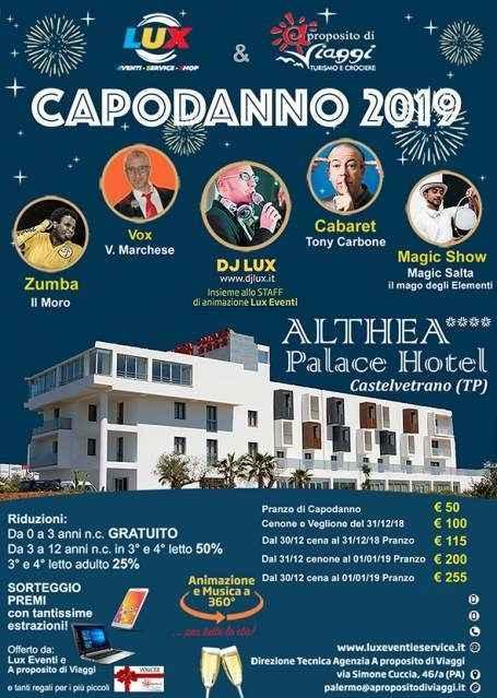 CAPODANNO 2019 Castelvetrano Trapani Hotel Althea Palace