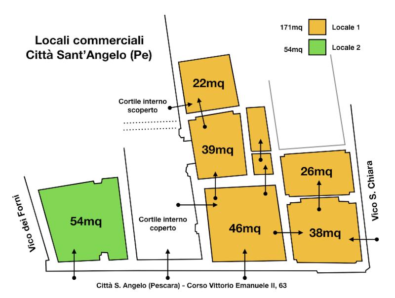 Città S. Angelo - 2 locali commerciali