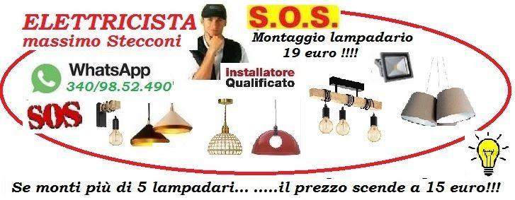 ELETTRICISTA PER IL MIO LAMPADARIO 340/9852490