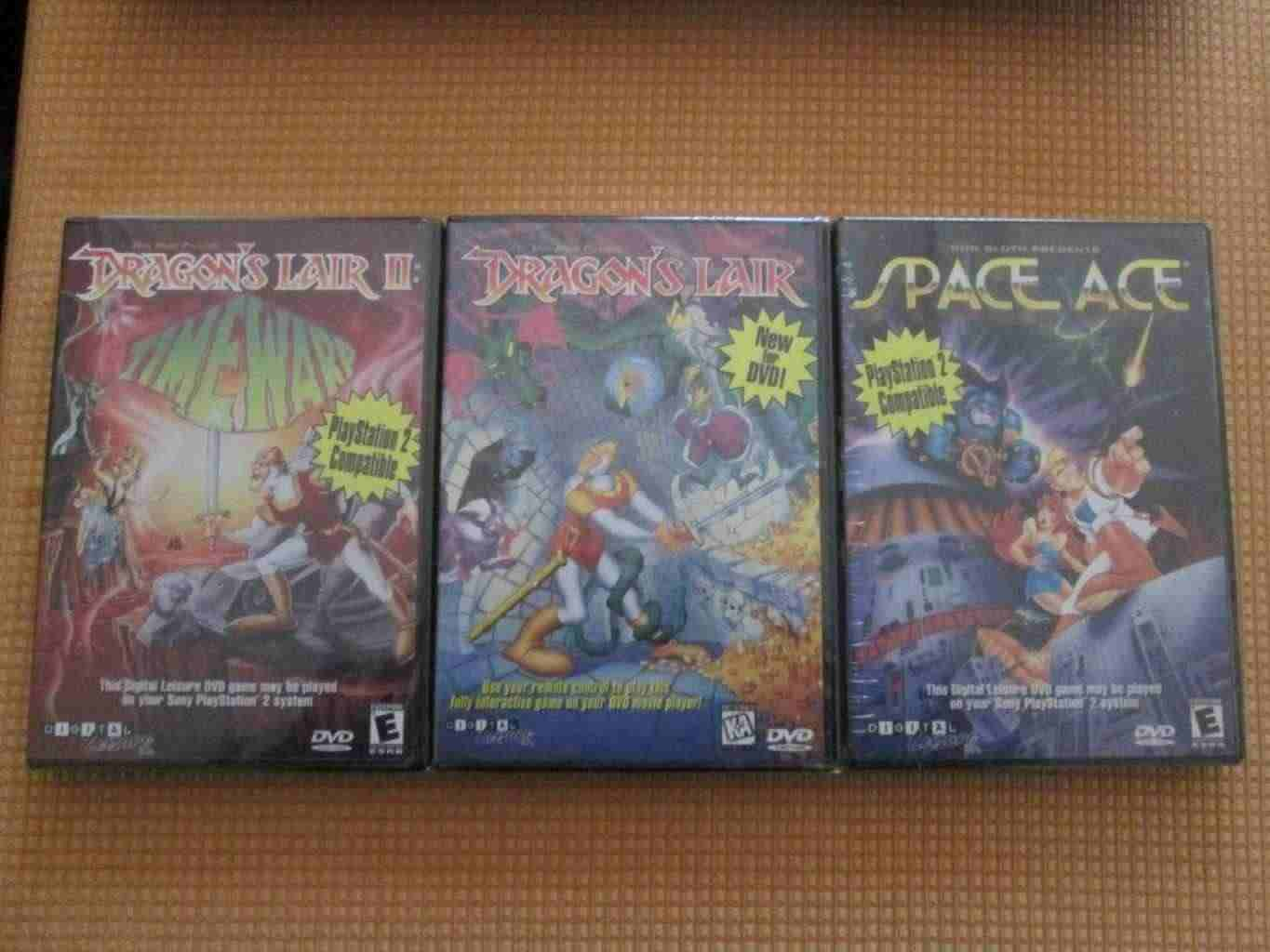 DRAGON'S LAIR 1 + 2 +SPACE ACE dvd game nuovo