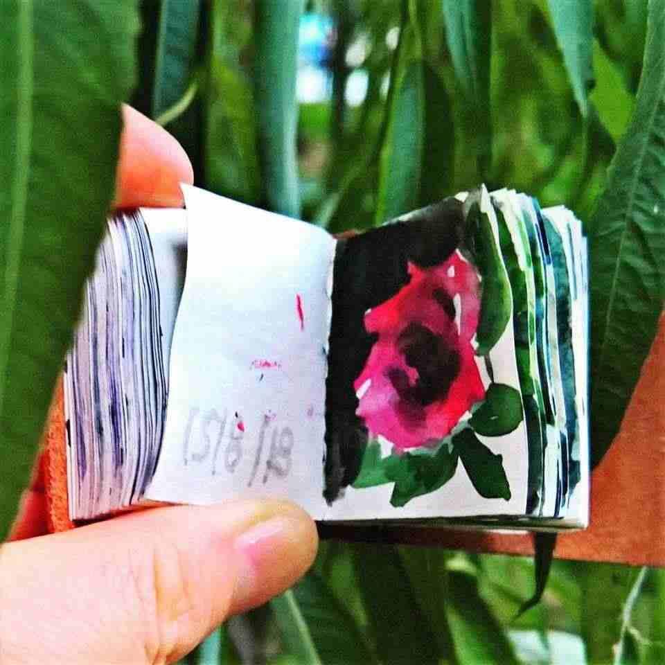 150 disegni dipinti di fiori e piante Toscana album copertina pelle Yulia A Korneva