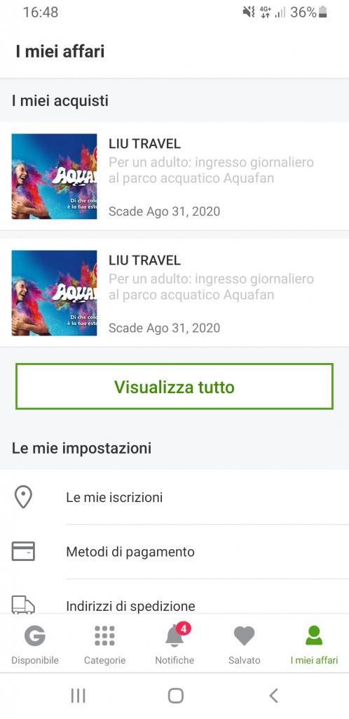 2 Biglietti Aquafan Riccione