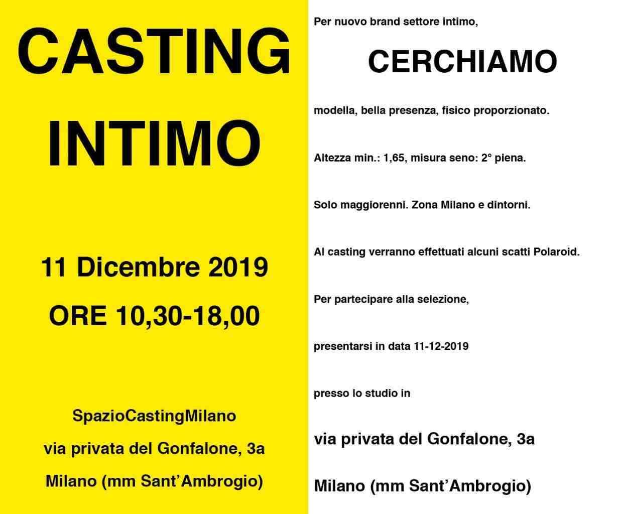 Casting settore Lingerie