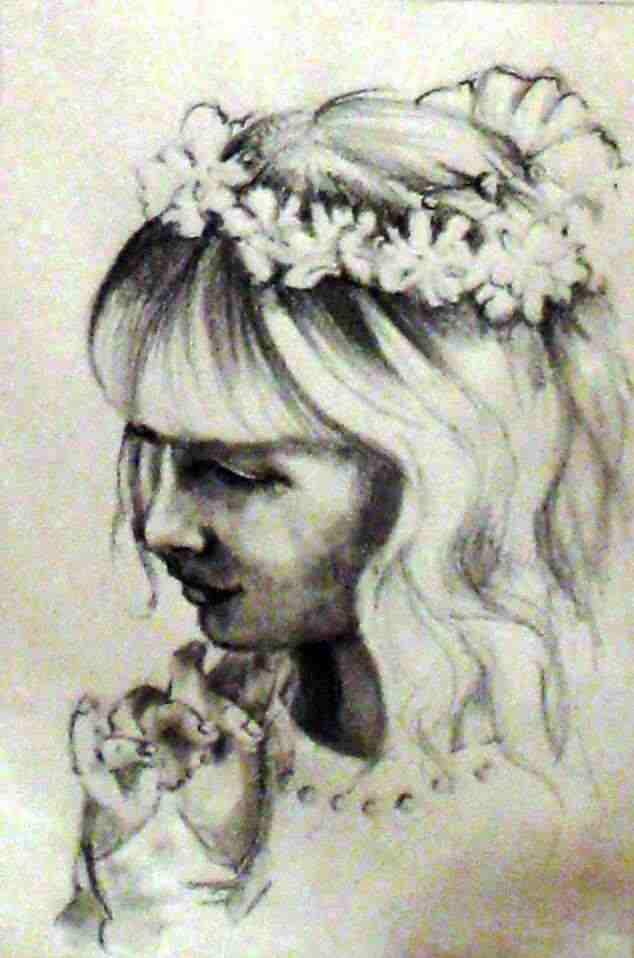 ritratto da fotografia disegno a matita su carta idea regalo bomboniera