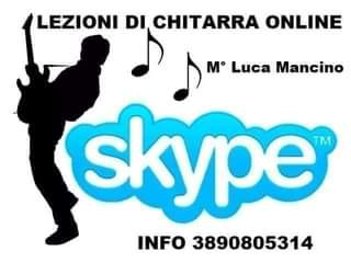 Lezioni di Chitarra su Skype tel 3890805314