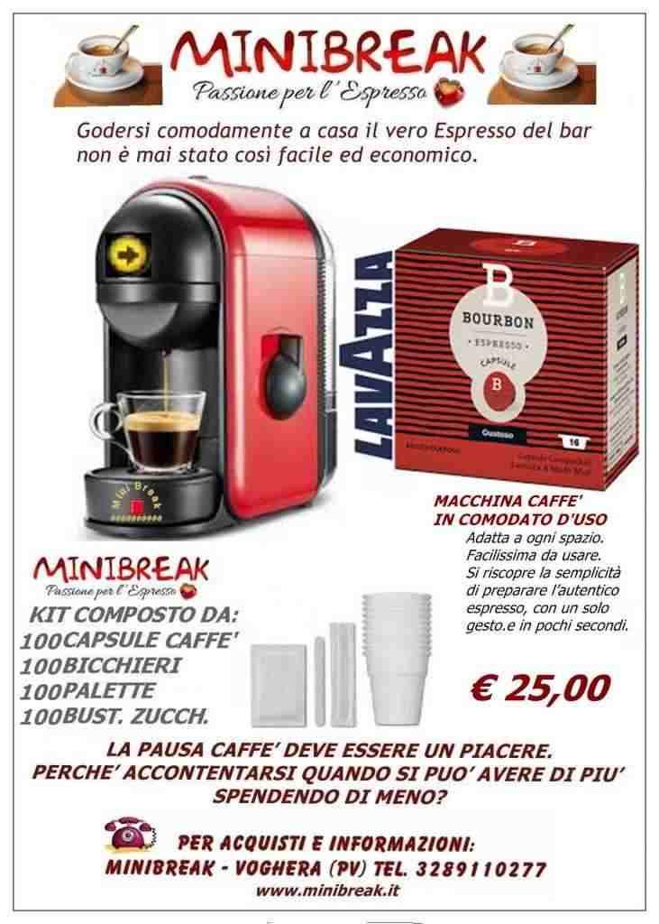 Macchina caffè in comodato d'uso