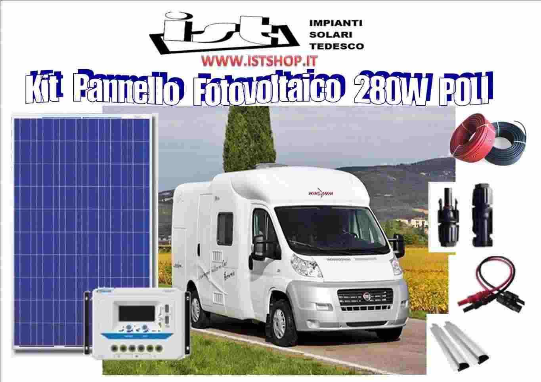 Pannello Fotovoltaico 280W policristallino kit completo