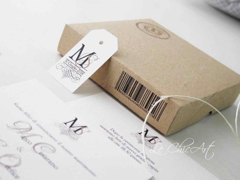 Partecipazione modello Wedding mystery box