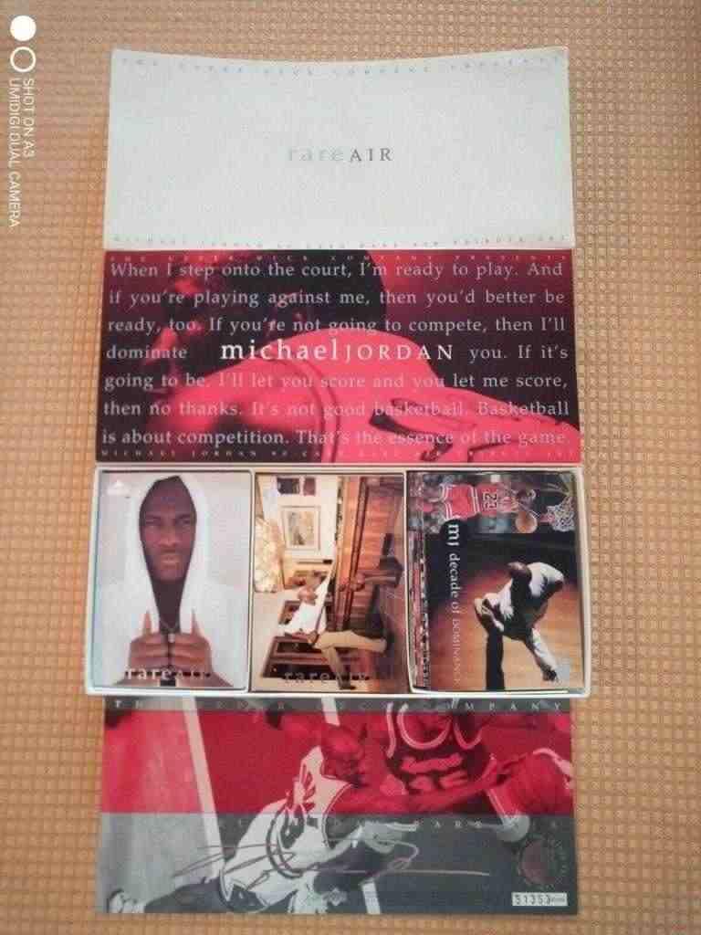 Upper Deck - Scatola Michael Jordan 90 card rare Air tribute set - 1994