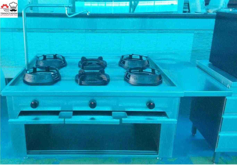 Cucina Wok Casta 6 fuochi