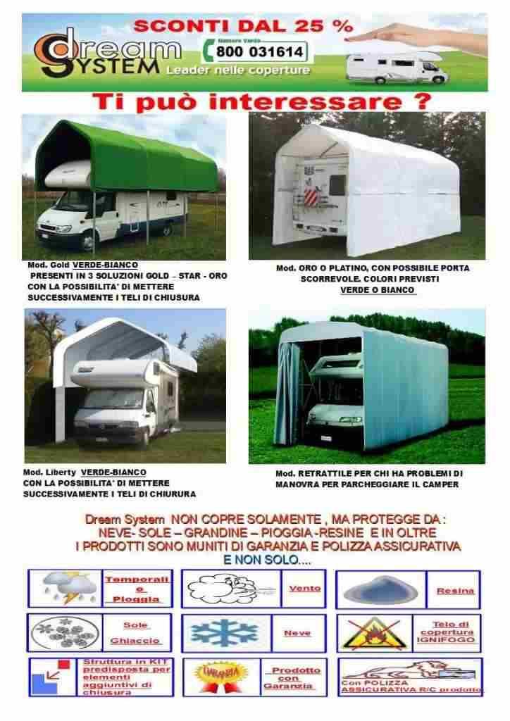 PROMO Coperture per Camper, auto e autolavaggi