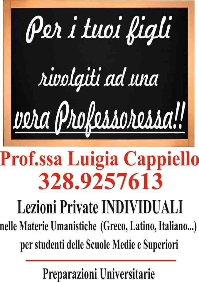 Lezioni private di  latino e greco