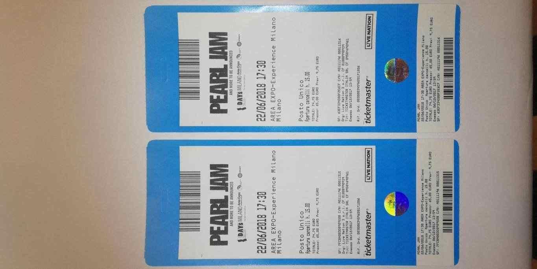 biglietti concerto Pearl Jam Milano 22 giugno