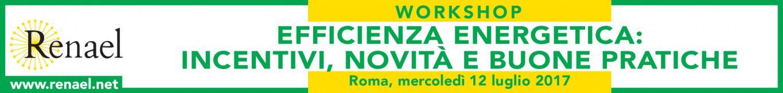 """WORKSHOP """"EFFICIENZA ENERGETICA: INCENTIVI, NOVITA' E BUONE PRATICHE"""""""