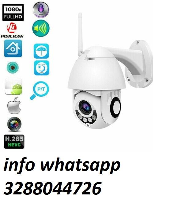 Telecamera wifi ip mini speed dome da esterno ip66 2 mpx 1080p