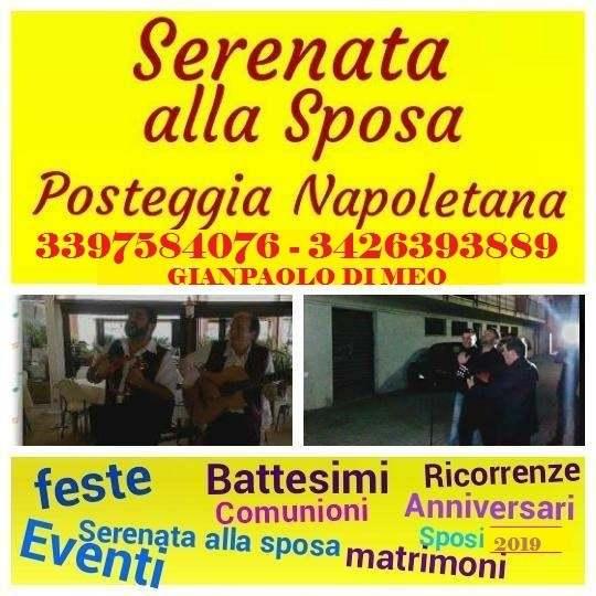 POSTEGGIA napoletana per comunioni - serenata - feste e matrimoni