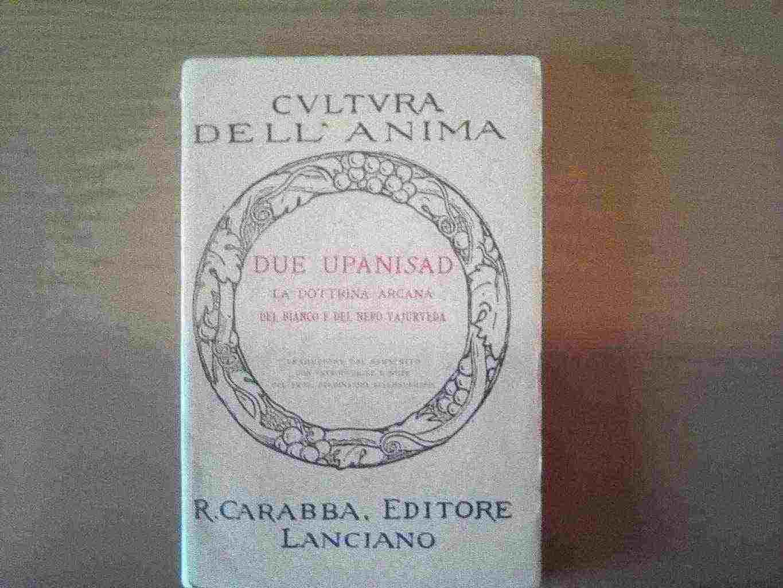 Due Upanishad Libro Raro Lanciano Carabba