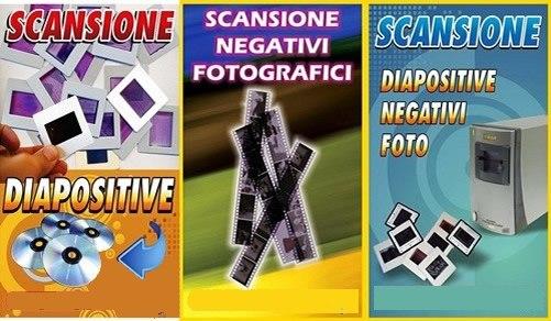 Scansione Diapositive, Negativi e Super 8