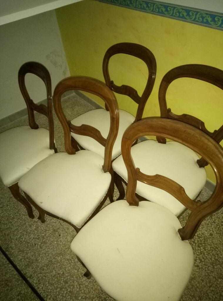 5 sedie Luigi filippo originali