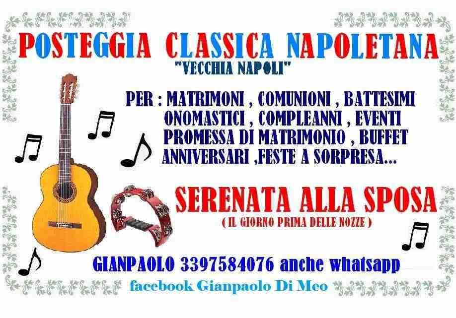 posteggia napoletana per festeggiare comunioni .anniversari ,matrimoni