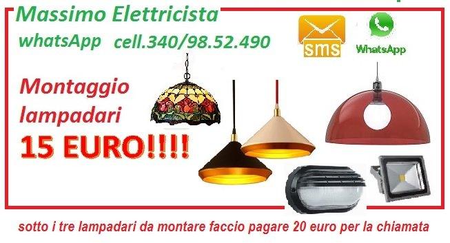 ELETTRICISTA PER IL TUO NUOVO LAMPADARIO A ROMA