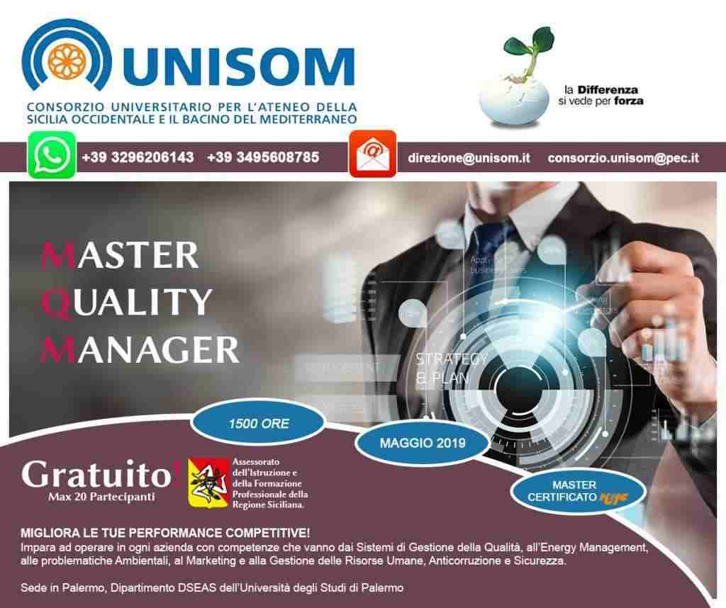 Master of Quality Manager – 1° edizione.