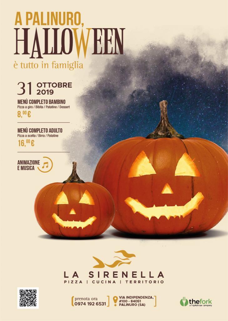 Halloween 2019 :La Sirenella a Palinuro  pronta a stregare tutti i bambini.