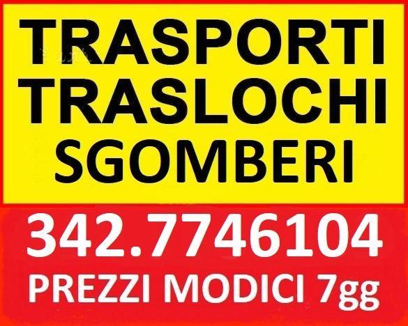 ITALIANA TRASLOCHI TRASPORTI SGOMBERI E SMALTIMENTI ESEGUE OVUNQUE A PREZZI IMBATTIBILI 7GG SU7