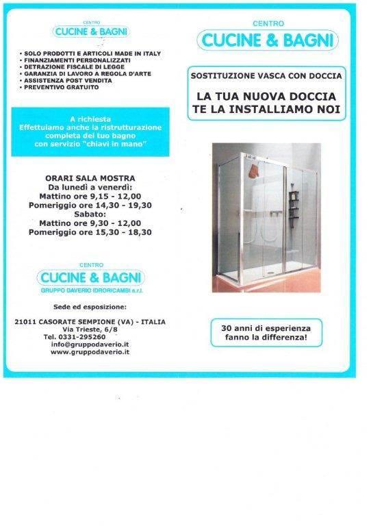 Sostituzione vasca con doccia,Varese,Gallarate,Somma L.do