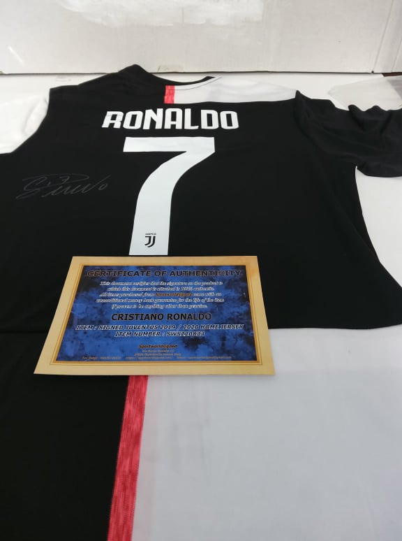 Maglia Replica Juventus Maglia Casa 2019 2020 Autografata CR7 CRISTIANO RONALDO Signed wich COA cert