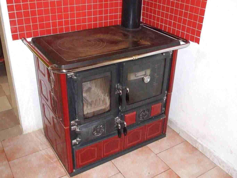 Stufa a legna nuova con forno