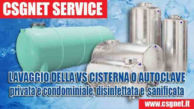 La cisterna autoclave del tuo condominio e di casa sei sicuro che sia pulita e sanificata