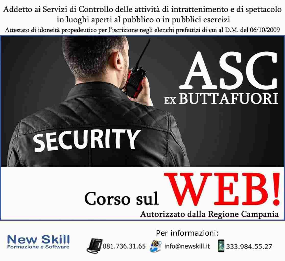 Corso ASC Ex Buttafuori sul WEB