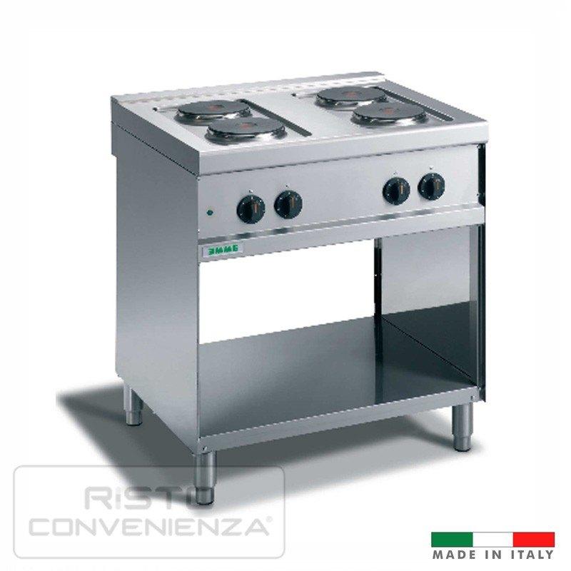 Cucina elettrica acciaio inox professionale Made in Italy