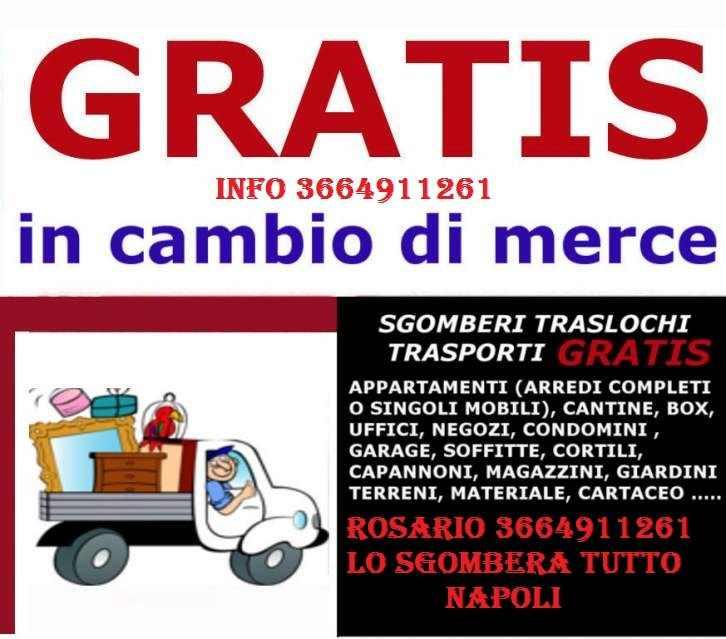 GRATIS SGOMBERO TUTTO APPARTAMENTI GARAGE E CANTINE