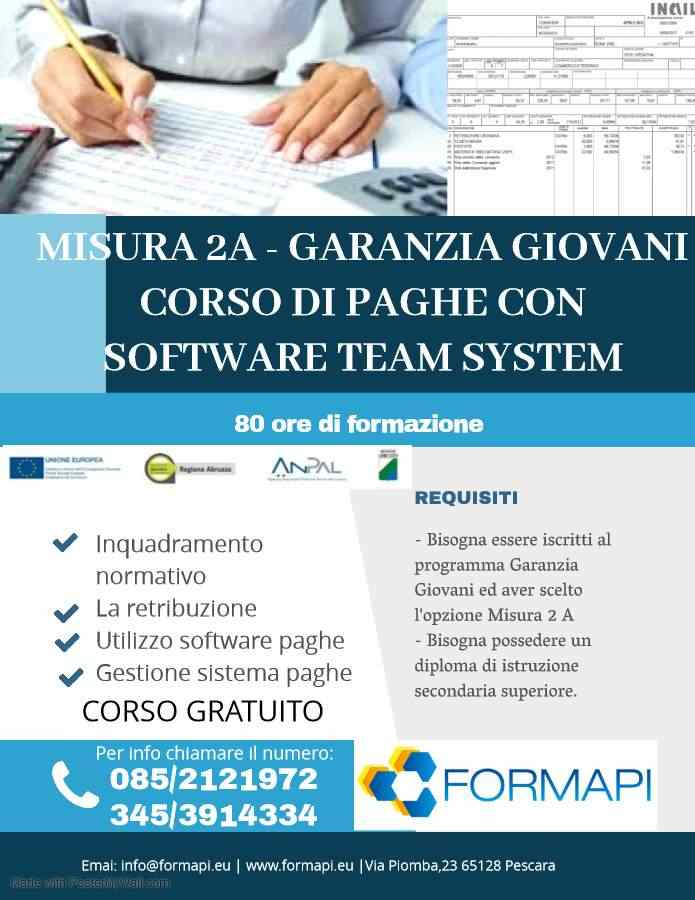 MISURA 2 A - PAGHE CON SOFTWARE TEAM SYSTEM