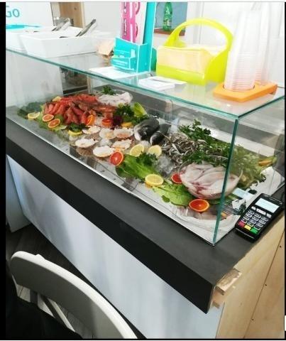 Banco frigo per pescheria usato
