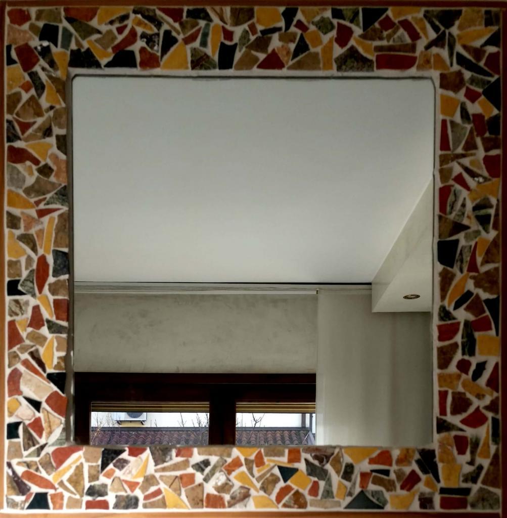 Specchio di mosaico 42x42