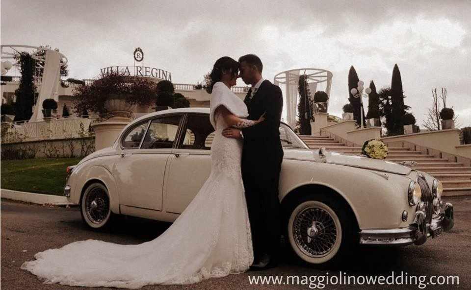 Noleggio auto d'epoca per matirmonio Salerno Jaguar Mk2