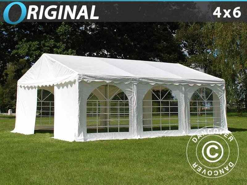 Tendone per feste Original 4x6m PVC, Bianco