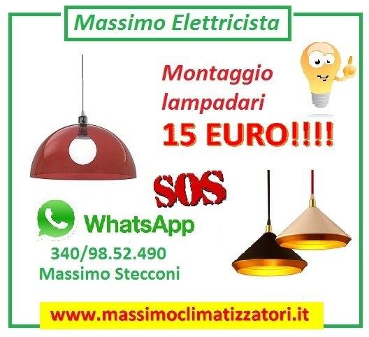 MONTAGGIO LAMPADARIO E CORPI ILLUMINANTI