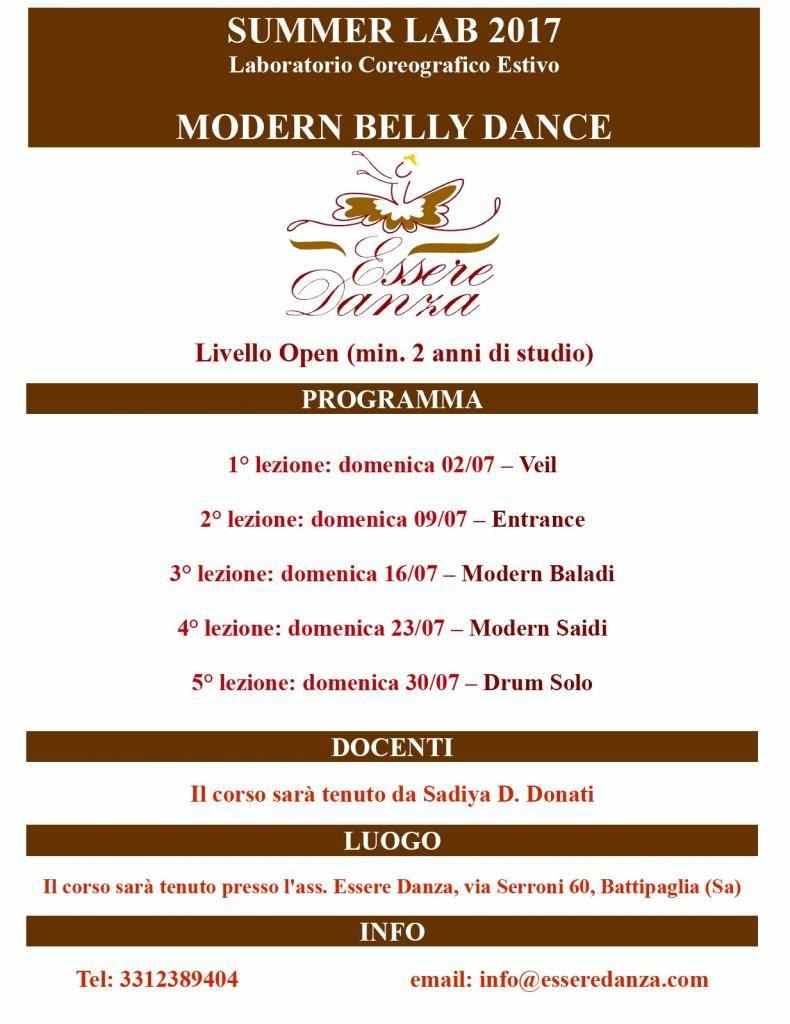 Laboratorio Coreografico Estivo  MODERN BELLY DANCE