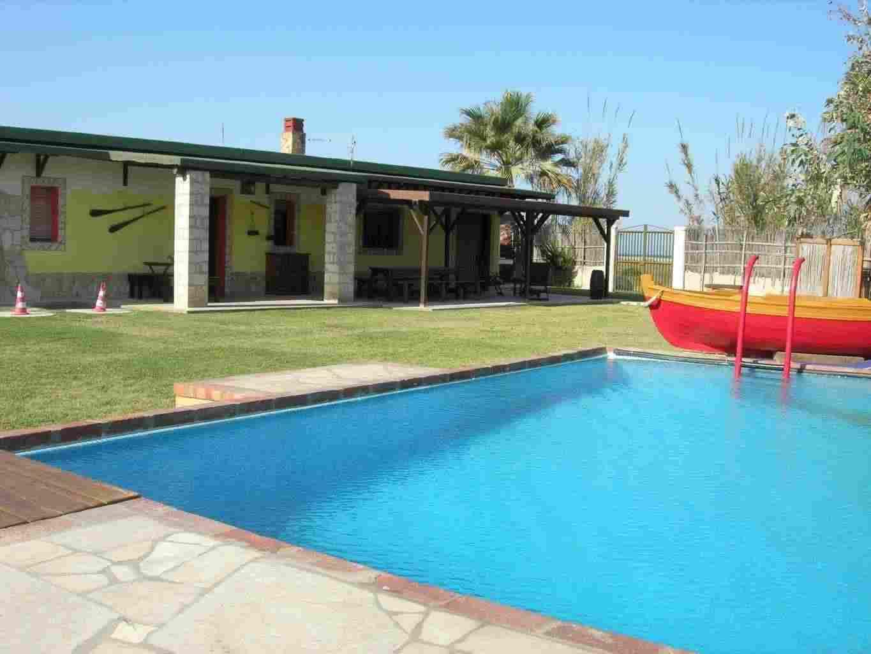 Chalet con piscina privata su spiaggia 10 posti