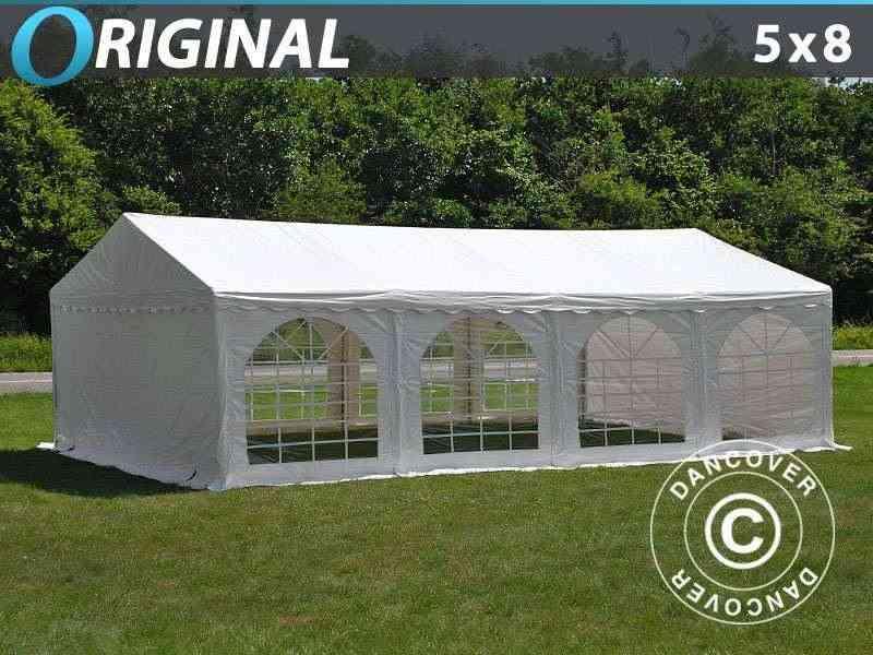 Tendone per feste Original 5x8m PVC, Bianco