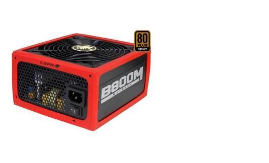 MaxBron 800W Modulare ATX PFC Attivo 80+ Bronze Rosso